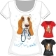 T-Shirt with Basset Hound - GraphicRiver Item for Sale