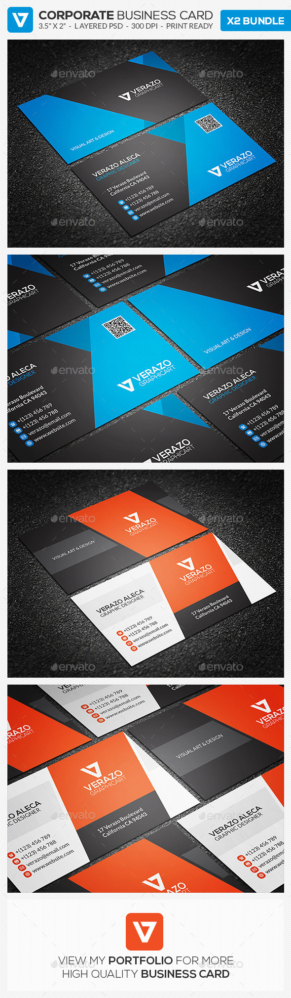GraphicRiver Business Card Bundle 15 10602042