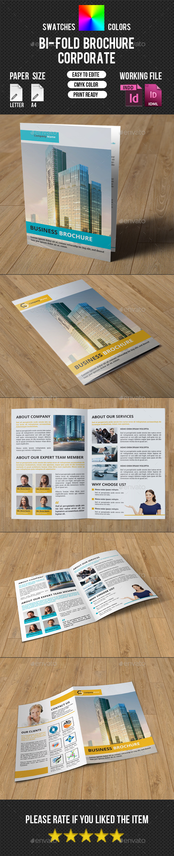 GraphicRiver Corporate 4 Page Brochure-V215 10602074