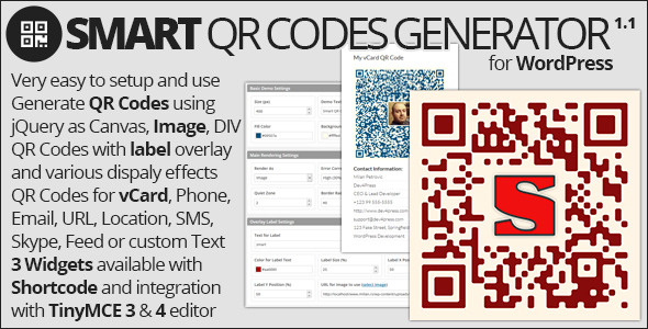 Smart QR Codes Generator - CodeCanyon Item for Sale