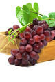 Red grape in wood box on white background. - PhotoDune Item for Sale