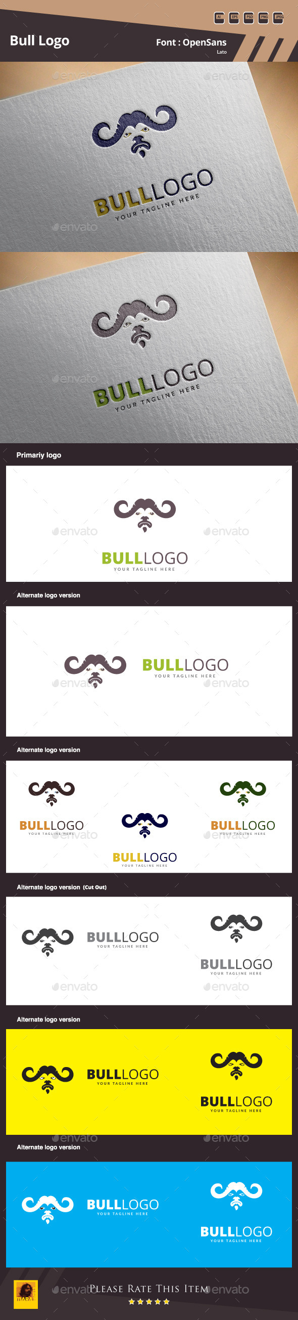 GraphicRiver Bull Logo Template 10602363
