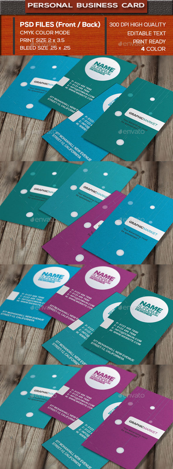 GraphicRiver Personal Business Card 10602453