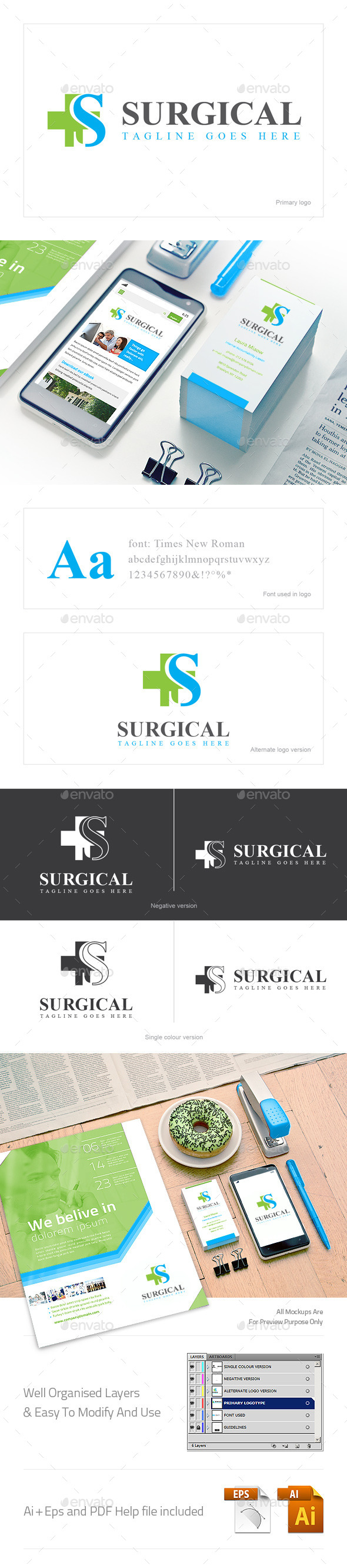 GraphicRiver Surgical Logo 10602554