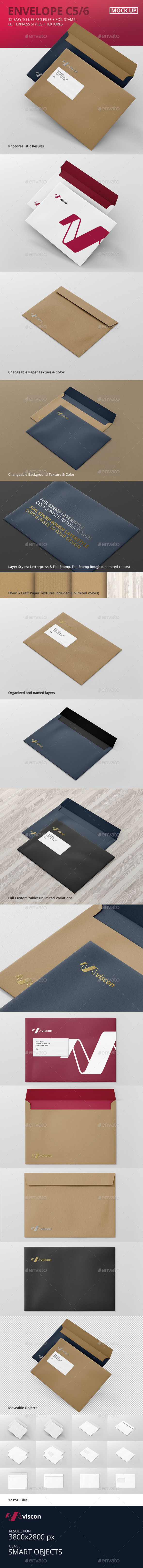 GraphicRiver Envelope C5 Mock-Up 10602614