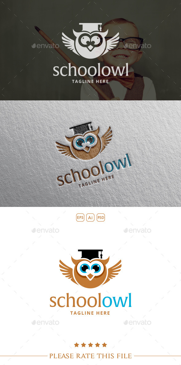 GraphicRiver School Owl Logo 10583448
