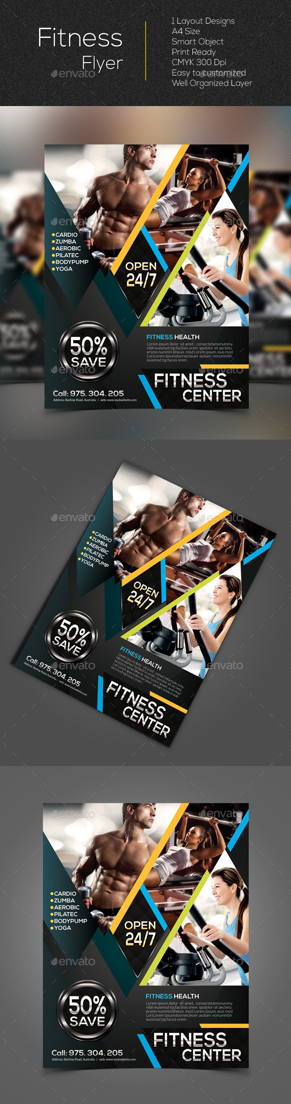 GraphicRiver Fitness Flyer 10602749