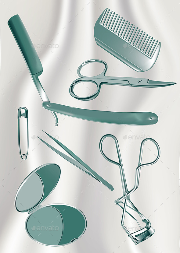 GraphicRiver Metal Grooming Set 10602763
