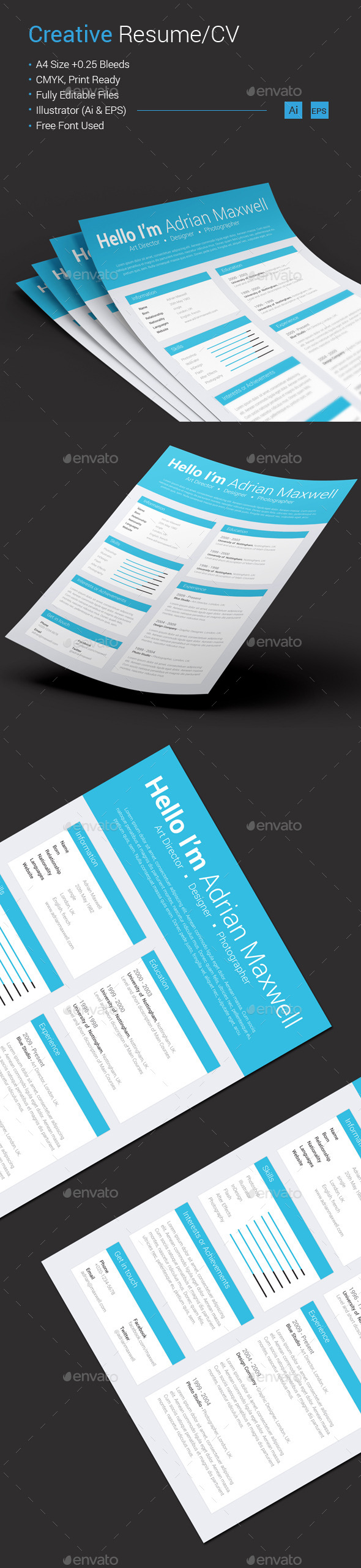 GraphicRiver Creative Resume CV 10602804
