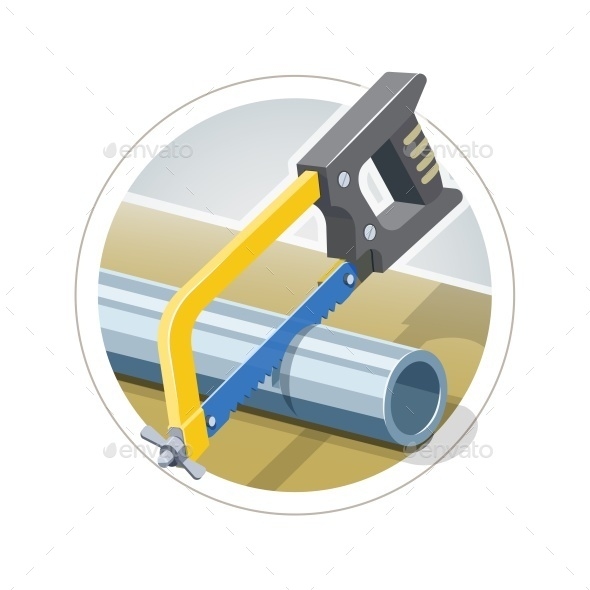 GraphicRiver Hacksaw Cut Metallic Pipe 10602908