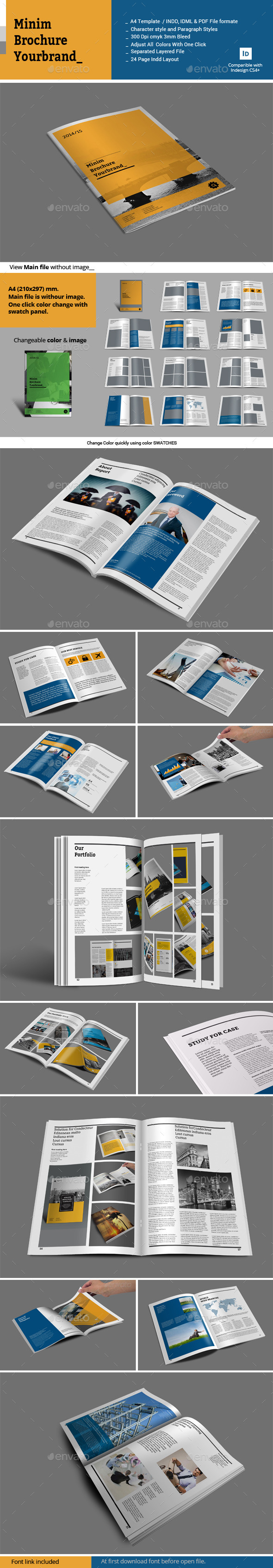 GraphicRiver Minim Brochure Template 10603006
