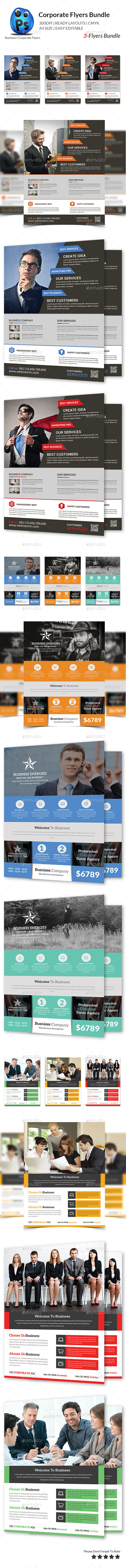 GraphicRiver Corporate Business 3 Flyer Bundle 10603912