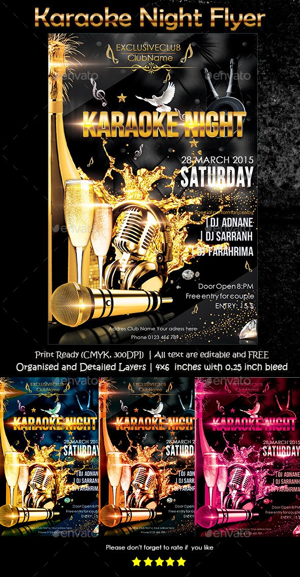 GraphicRiver Karaoke Night Flyer 10604057