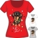 T-Shirt with Dachshund and Flower - GraphicRiver Item for Sale