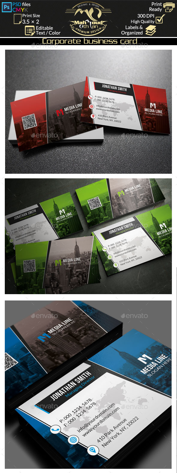 GraphicRiver Corporate Business Card 80 10604185