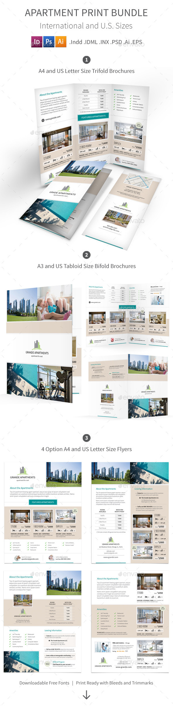 GraphicRiver Apartment Real Estate Print Bundle 10604188