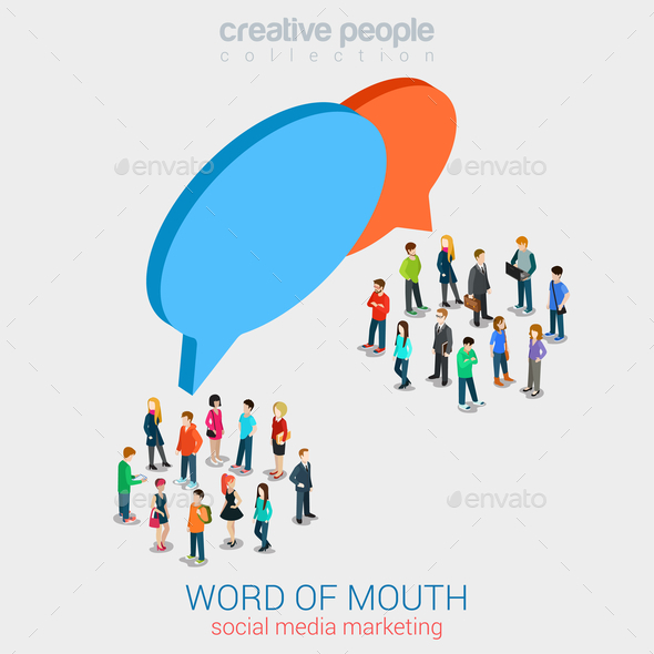 GraphicRiver Social Marketing Word of Mouth Gossip 10604575