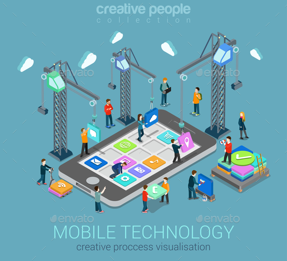 GraphicRiver Mobile Technology Infographic 10604578
