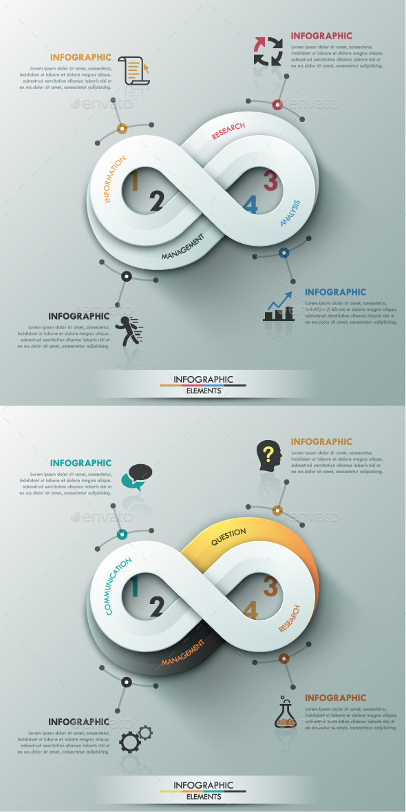 GraphicRiver Modern Infographic Options Banner 2 Colors 10604726