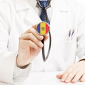 Doctor holding stethoscope with flag series - Moldova - PhotoDune Item for Sale