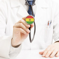 Doctor holding stethoscope with flag series - Bolivia - PhotoDune Item for Sale