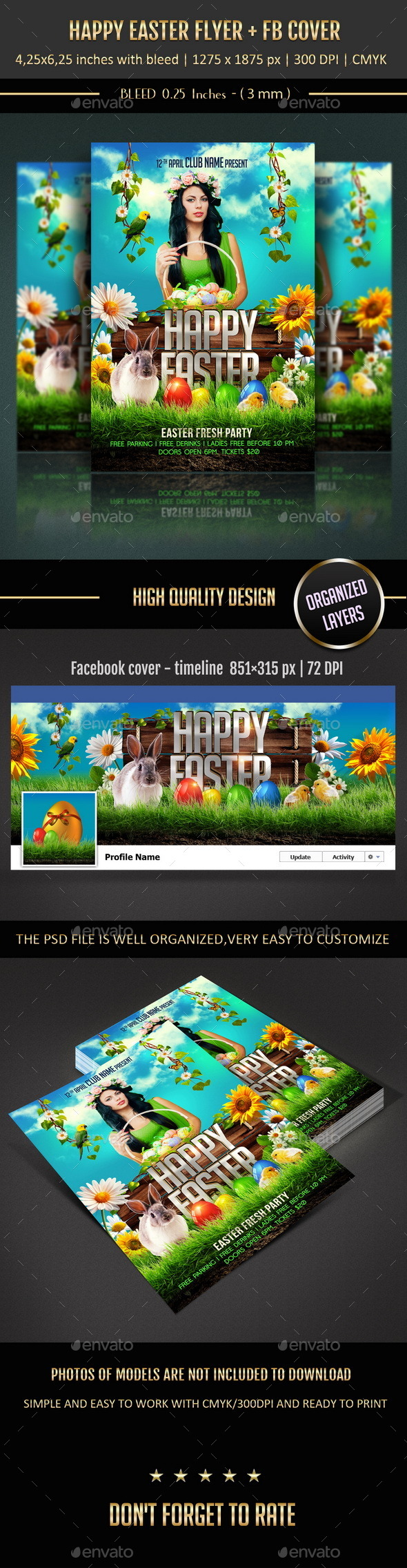 GraphicRiver Happy Easter Flyer 10604843