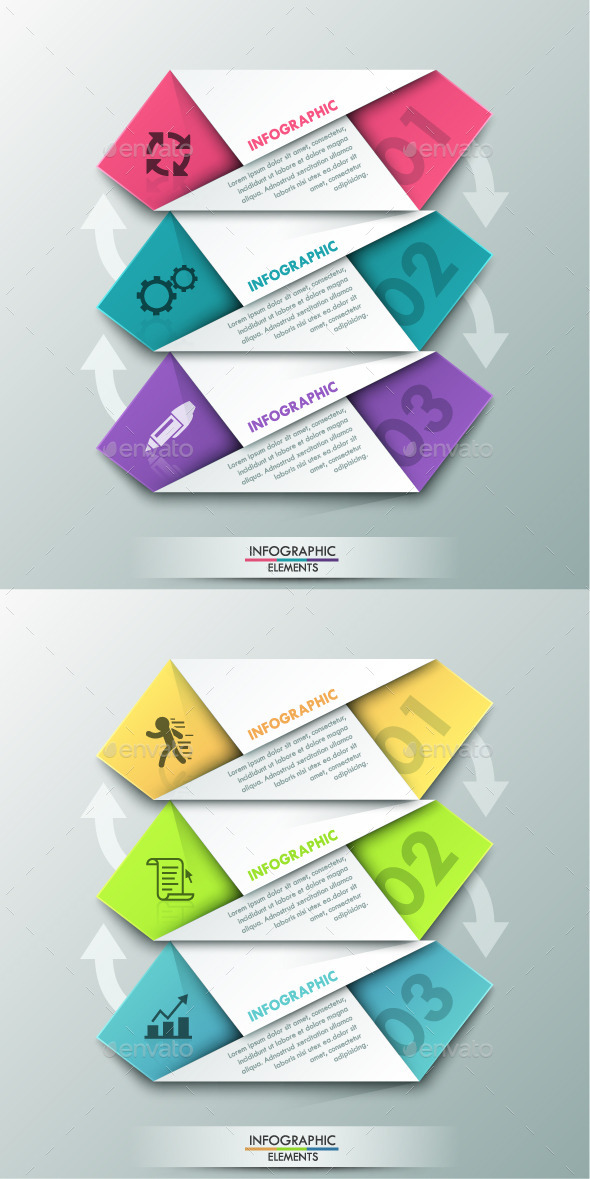 GraphicRiver Modern Infographic Paper Template 2 Colors 10604890