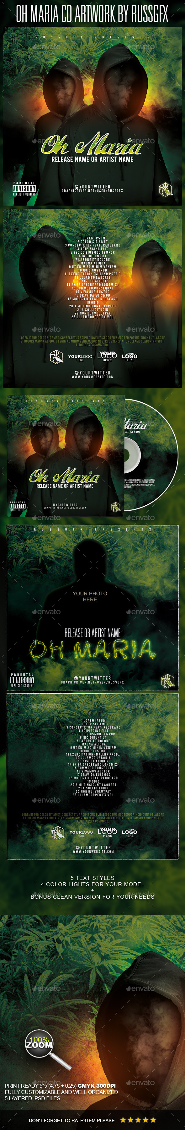 GraphicRiver Oh Maria PSD CD Artwork Cover Template 10514421