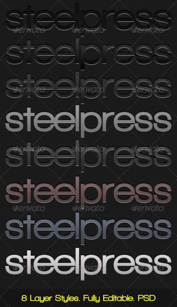 GraphicRiver Steelpress Unique Photoshop Styles Text 132955