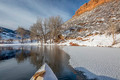 winter canoe paddling in Colorado - PhotoDune Item for Sale