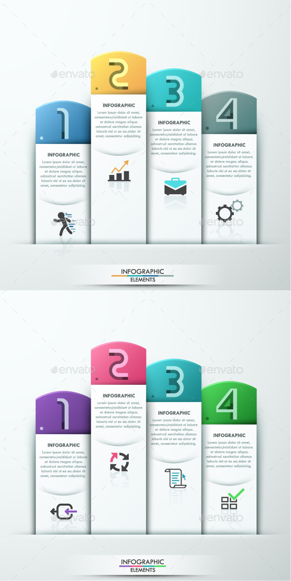 GraphicRiver Modern Infographic Paper Template 2 Colors 10605441