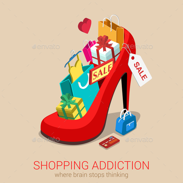 GraphicRiver Shopping Addiction Sale 10606141