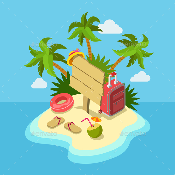 GraphicRiver Tropic Island Beach 10606142