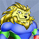 Superhero Lion Mascot