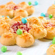 Cookies background n the shape of flowers. - PhotoDune Item for Sale
