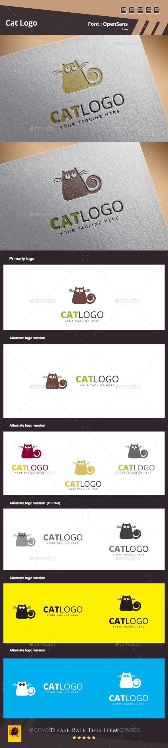 GraphicRiver Cat Logo Template 10606929