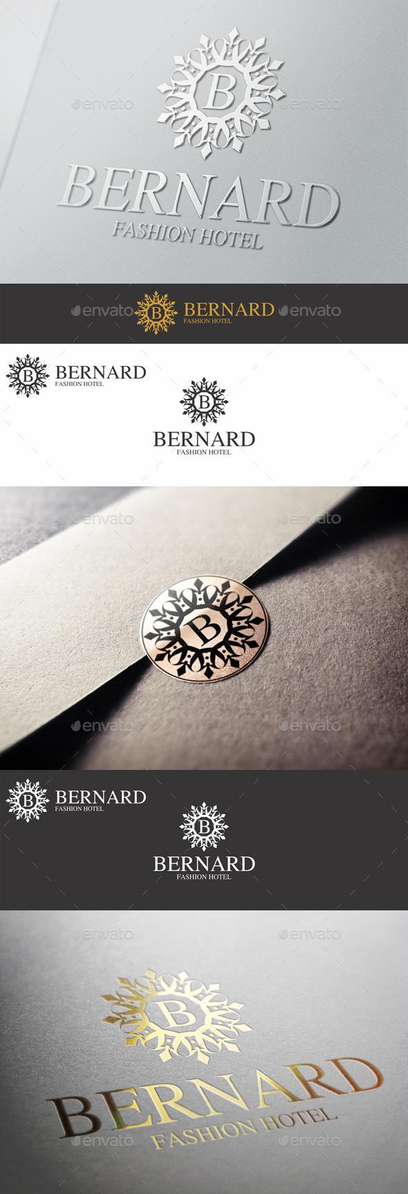 GraphicRiver Boutique Elegant Logo Emblem Bernard 10607195
