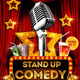 Comedy and Karaoke Flyer Template - GraphicRiver Item for Sale