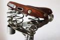 old-fashioned vintage leather bike saddle - PhotoDune Item for Sale