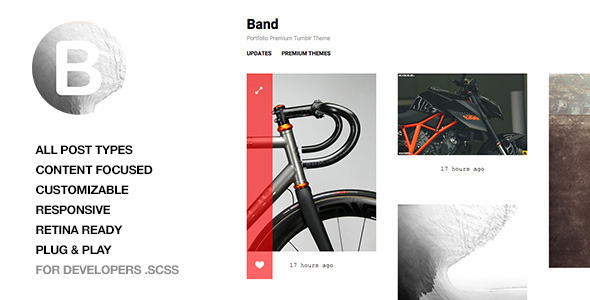 ThemeForest Band Responsive Portfolio Tumblr Theme 10607290