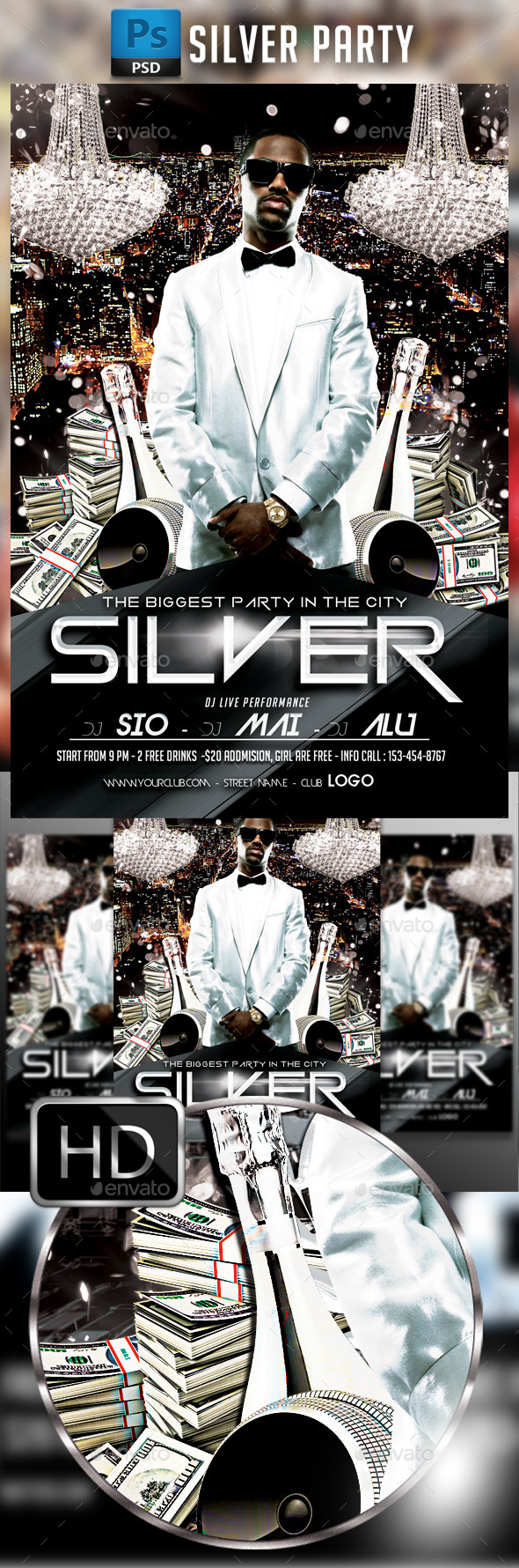 GraphicRiver Silver Party 10607566