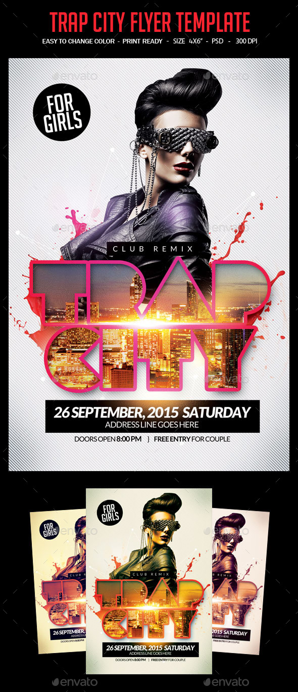 GraphicRiver Trap City Flyer Template 10607599