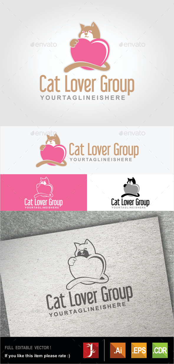 GraphicRiver Cat Lover Group 10607626