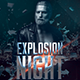 Explosion Night Party Flyer - GraphicRiver Item for Sale