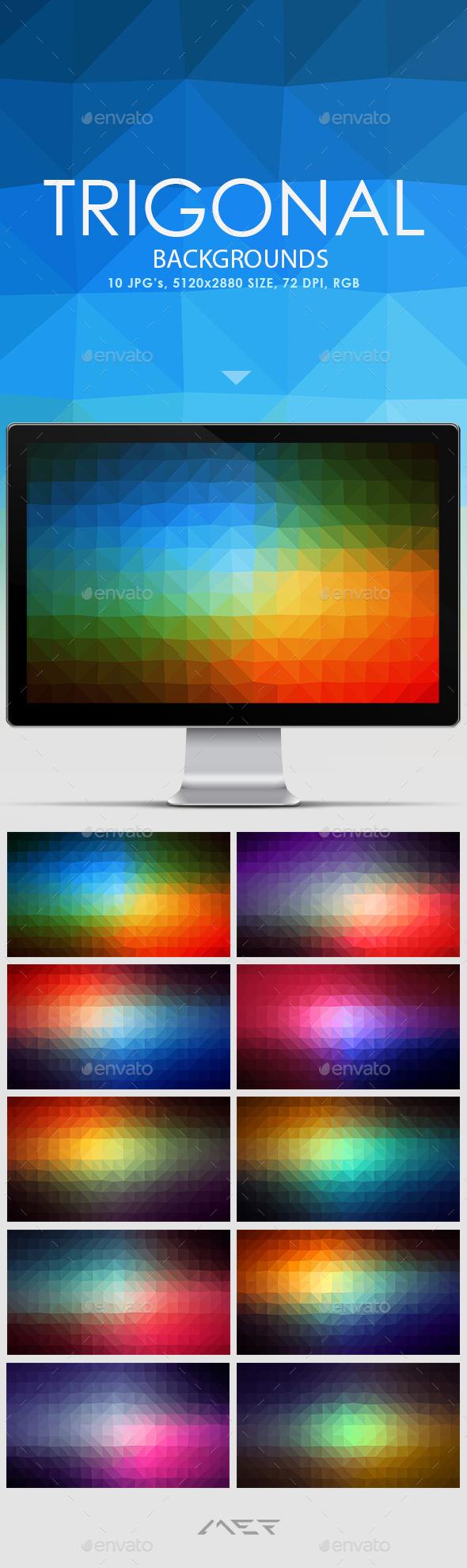 GraphicRiver Trigonal Backgrounds 10607703