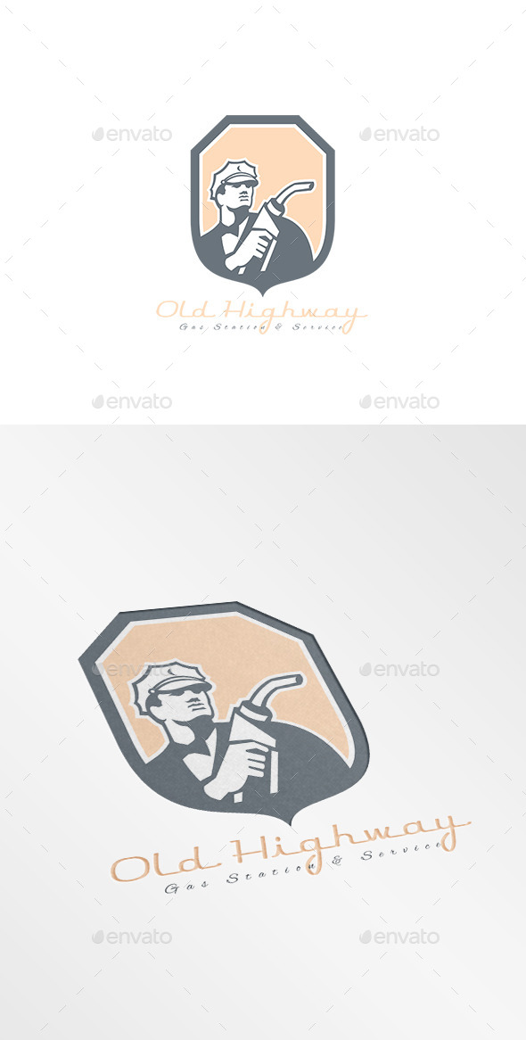 GraphicRiver Old Highway Gasoline Station Logo 10608081