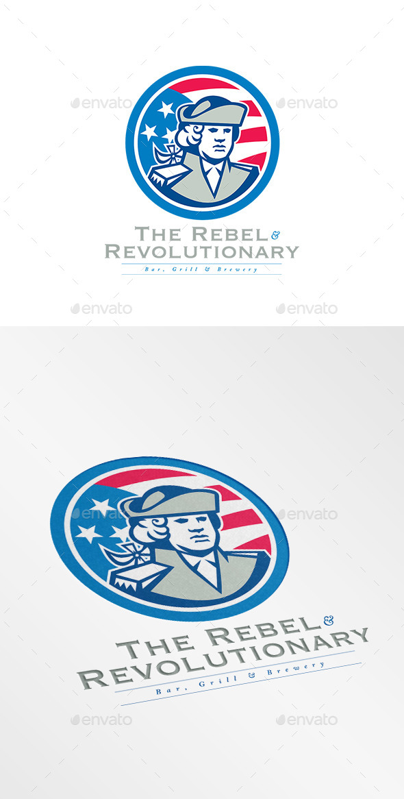 GraphicRiver Rebel Bar and Grill Logo 10608139