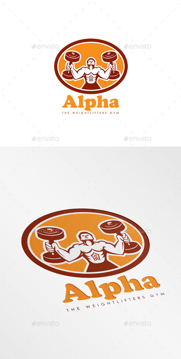 GraphicRiver Alpha Weightlifters Gym Logo 10608166