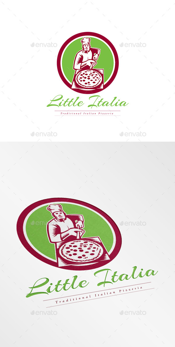 GraphicRiver Little Italia Pizza Logo 10608170