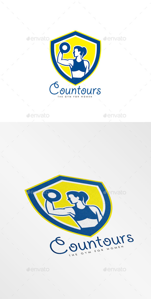 GraphicRiver Contours Gym for Women Logo 10608258